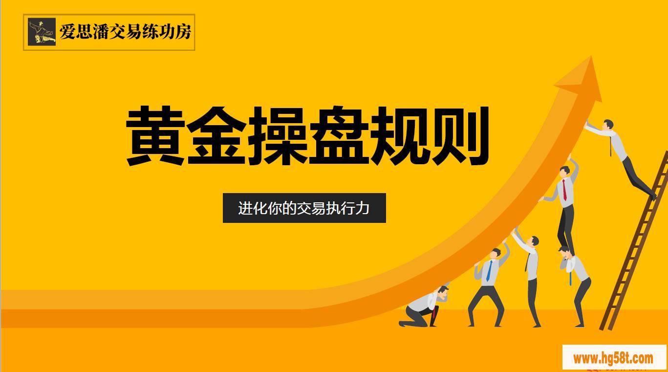 【爱思潘】交易练功房-黄金操盘规则二